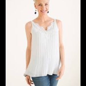 Chico's Convertible Lace Detail Tank